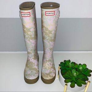 Hunter Original Tall Flecktarn Camo Rain Boots 5